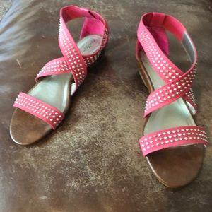 Cute Sparkly Pink Sandals